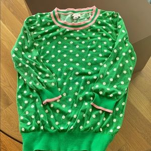J.Crew polka dot sweater
